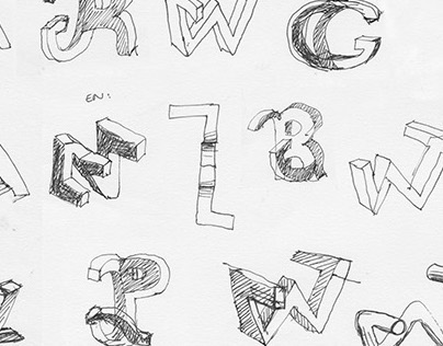 3D Typographic installation concept
