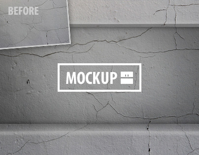 10 Horizontal Wall Niche Photoshop Mockups Set
