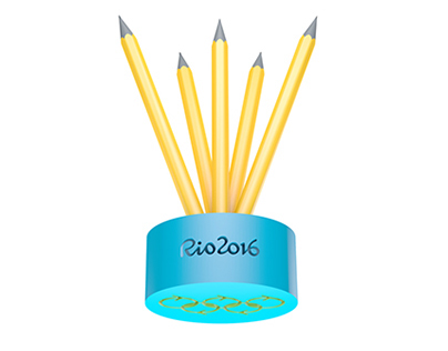 Olympic pencil concept