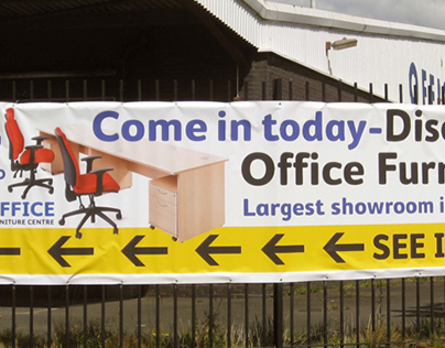 Advertising Banner for the Office Furniture Centre