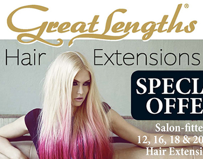 Flyer for Charlene's Great Lengths Hair Extensions