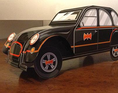 #UnconventionalHeroes PaperCraft - Citroen Batman