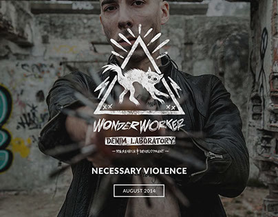 "NECESSARY VIOLENCE ""Wonder Worker Denim Laboratory"""