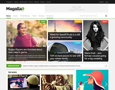 Magalla Magazine Theme on Themeforest