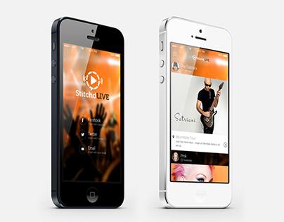 Stichd LIVE Mobile App UX/UI