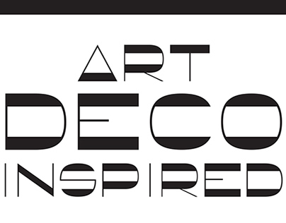 Art Deco Inspired Monospaced Font