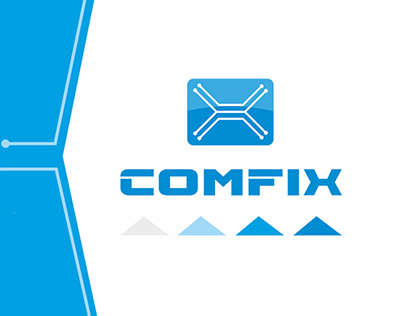 """Advertising design and style. Company """"Comfix""""."""