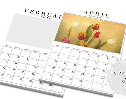 Editable 2015 Calendar Templates