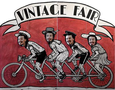 Vintage Bicycle Carnival Board