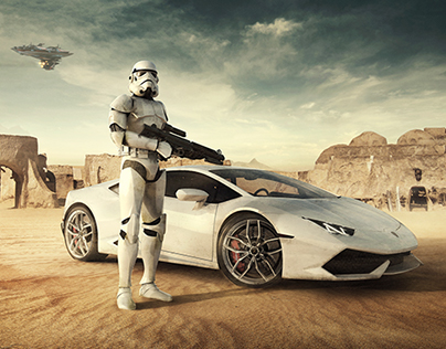 Lamborghini Advertising - Stormtrooper