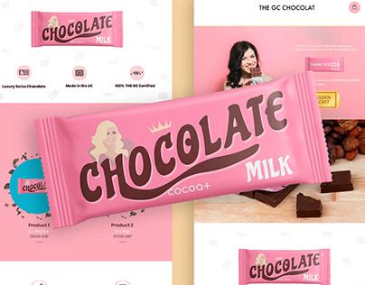 Landing page - Chocolate - Milk