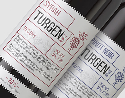 Turgen Wines - Brand Identity & Label