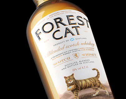 FOREST CAT WHISKEY Concept