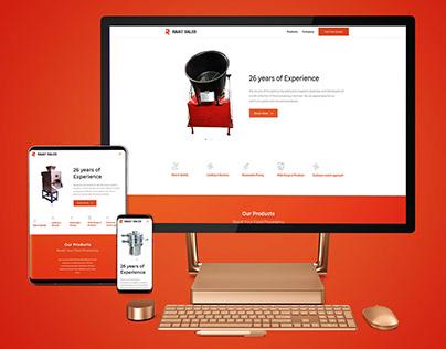 Rajat Sales Website design
