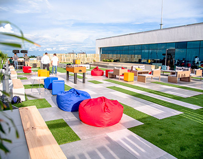 Relax area in rooftop