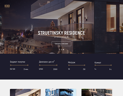 Luxory real estate web design