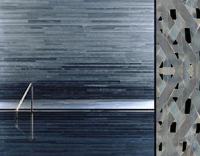 TEXTURE glass divider design - Kiriyama collaboration