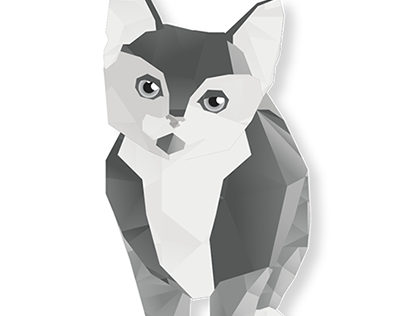 Low Poly Cat Design