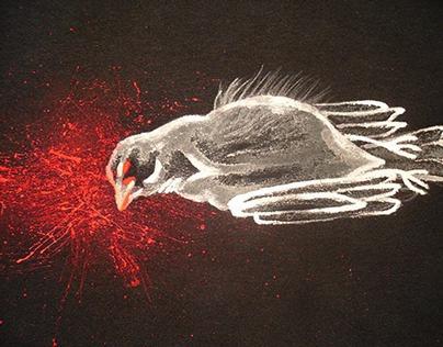 Dead sparrow by ewa wrze