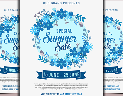 Special Summer Sale Flyer