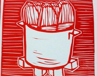 Masa, Olla, Hoja, Tamales Letterpress Poster Prints