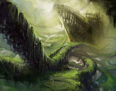 Environment concept art - Jungle