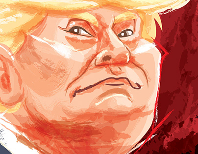 Politician caricature - Donald Trump 2020
