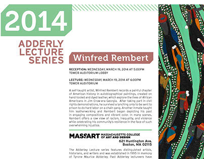 Adderley Lecture Series for MassArt