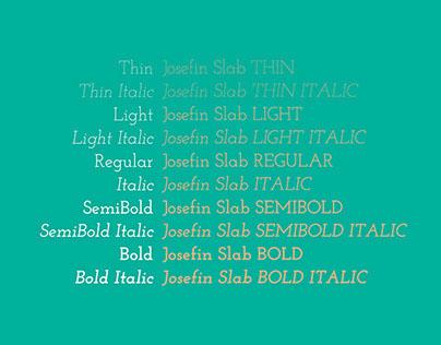 Josefin Slab is my favorite font