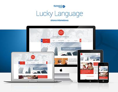 Lucky Language - Projekt strony www