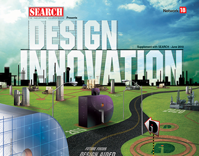 Design Innovation Supplement Cover For SEARCH Magazine