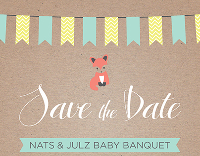 Baby Banquet {Save the Date}