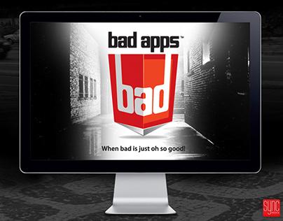 BAD Apps Logo, Website, and Mobile App Design