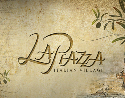 LaPiazza Logo, Collateral, Renderings, and Ilustration