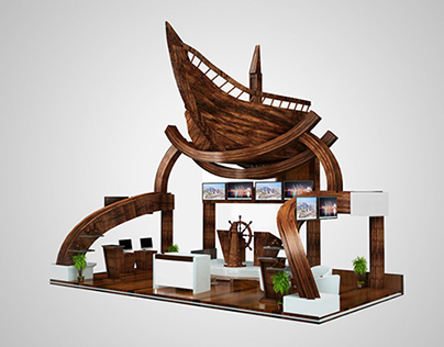 EXHIBITION STAND DESIGN FOR CAA- QATAR