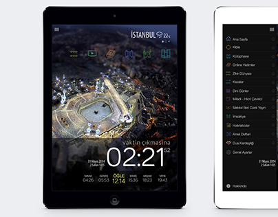 Ezan Vakti iPad UI/UX Design
