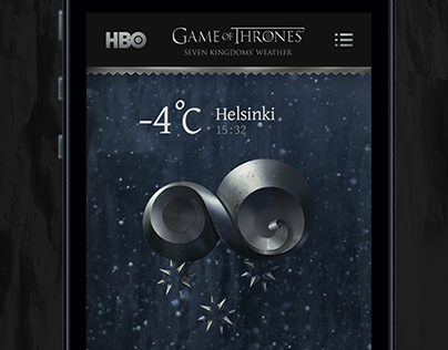 HBO Game of Thrones — Seven Kingdoms Weather App