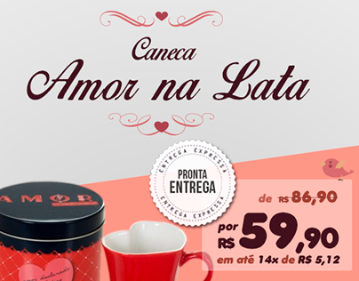 Trazpraca - Newsletter Caneca Amor na Lata