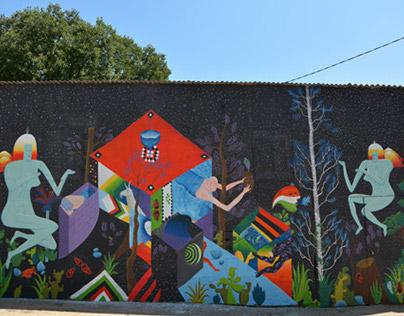Infiltartion III - Mural - Boombarstick Festival 2014