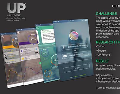 Jawbone UP app Re-Design (Concept)