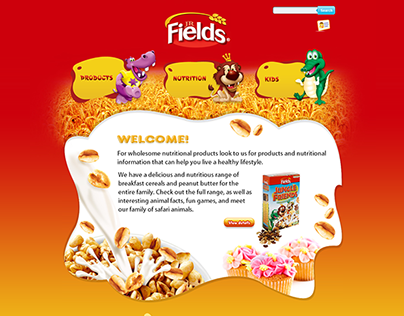 JR Fields - Select Products Website Design