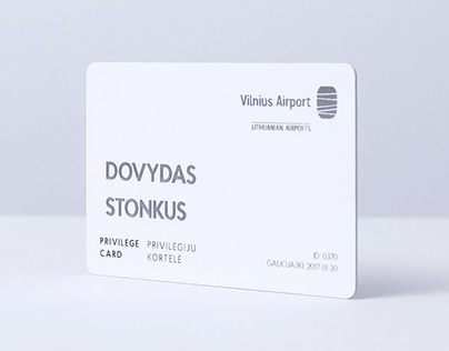 Vilnius International Airport privilege card