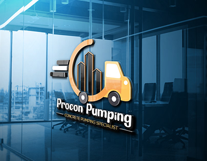 Pumping company logo design