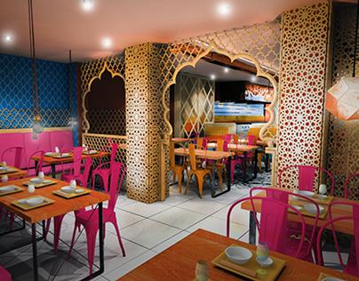 Indian Restaurant Concept Design London Haringey On Behance