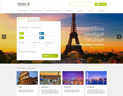 Flight search TIESIAI.LT |  UX & Web design concept