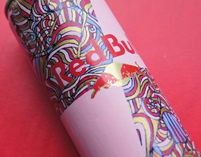 Hand painted Redbull can