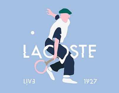 Lacoste Live - tshirt design