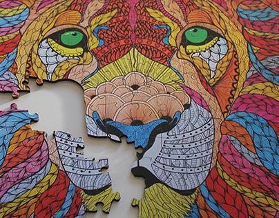 Lion Ablaze jigsaw