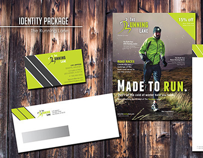 The Running Lane: Identity Package