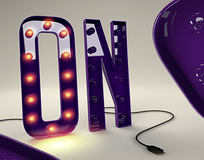 ON | 3D Typography